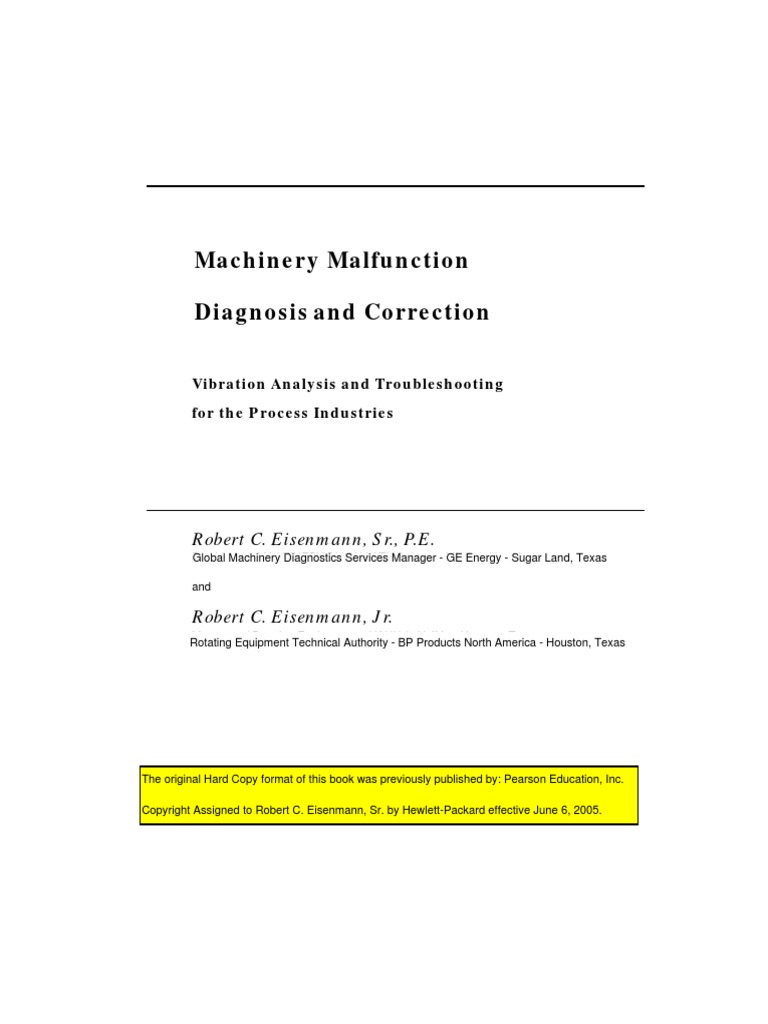 Machinery Malfunction Diagnosis And Correction Robert Eisenmann 1 Operating Range 2500 6300rpm Required Fuel 91 Octane Pump Turbine Machine Mechanical