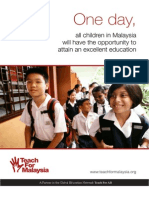 Teach for Malaysia Info Booklet (English)