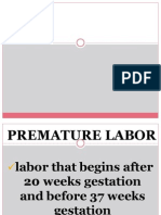 Premature Labor