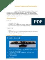 Kinect Programming Documentation