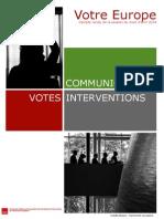 Bilan de la session plénière avril 2014