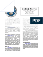 2014 House Notes Week Six