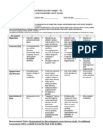 resume assignment sheet and rubric 2014