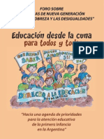 Educación desde la cuna para todos y todas