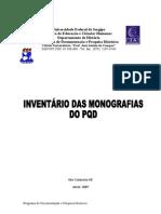 INVENTÁRIO DAS MONOGRAFIAS -  2012  Atualizada