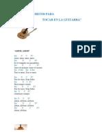 Lista de Coritos Para Tocar en La Guitarra