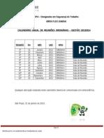 CIPA - 10 CALENDÁRIO DE REUNIÕES