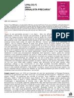 """18 Aprile 2014 - SULPALCO.IT, Sara Di Carlo recensisce """"Diario di una giornalista precaria"""" di Angela Leucci"""