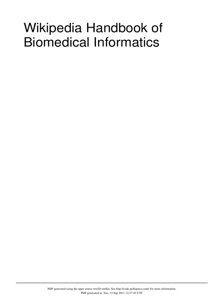 Handbook of Biomedical Informatics   Health Informatics