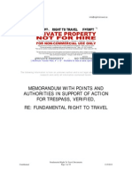 2013-10-26 Memorandum Right to Travel Vol 1
