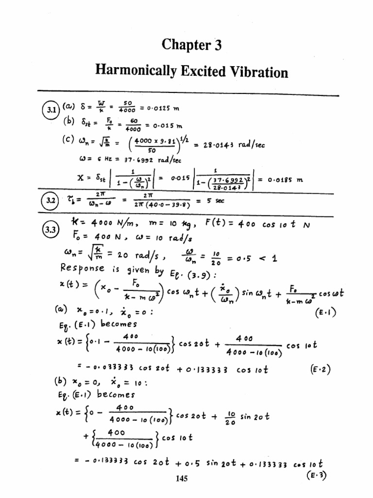 mechanical vibrations by ss rao 4th edition solution manual chapter 03 rh pt scribd com mechanical vibrations rao 5th edition solution manual mechanical vibrations 5th edition ss rao solution manual