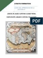 Trayecto de Historia III Gerardo Cintora Villagomez