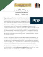 CFP 2013 New Work Modernist Studies, Deadline 18 Nov