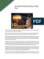 10 Perkara Yang Yahudi Seboleh