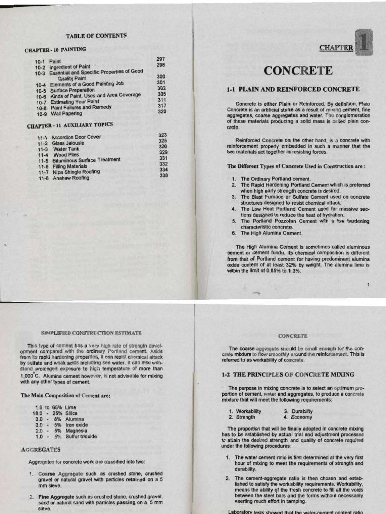 ESTIMATE by Max Fajardo   Concrete   Construction Aggregate