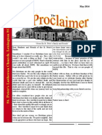 May 2014 Proclaimer