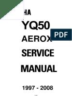 68552232 Yamaha YQ50 Aerox YQ 50 Service Repair Manual 1997 08
