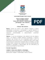 Cultura Meio Ambiente e Desenvolvimento (Antropologia e Meio Ambiente)