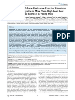 Low-Load High Volume Resistance Exercise Stimulates Muscle Protein Synthesis More Than High-Load Low Volume Resistance Exercise in Young Men