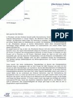 Offener Brief der Pforzheimer Zeitung an Innenminister Reinhold Gall