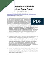 La estética africanista