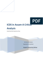 ICDS IN ASSAM - A critical Analysis