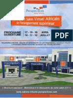 Plaquette Salon Virtuel Africain Perspectives