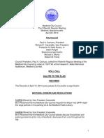 Medford City Council Agenda April 22, 2014