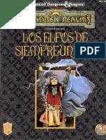 advanced dungeons & dragons - segunda edición - castellano - reinos olvidados - los elfos de siempreunidos