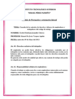 deber n°2 DERECHOS Y DEBERES DEL CODIGO DE TRABAJO