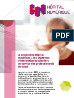 Brochure Programme Hopital Numerique