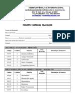 Registro Historial de Estudios