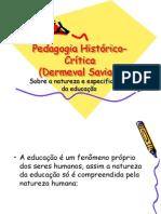 Dermeval Saviani - Pedagogia Historico Critica
