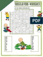 Past t - Irregular Verbs - (Starter @ Plenary - Word Search)