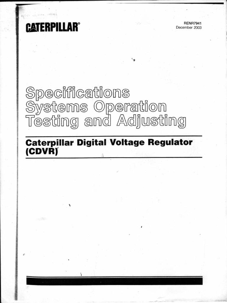 Caterpillar Digital Voltage Regulator _ Service Manual ...
