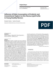 Influence of Daily Consumption of Probiotic and  Conventional Yoghurt on the Plasma Lipid Profile  in Young Healthy Women