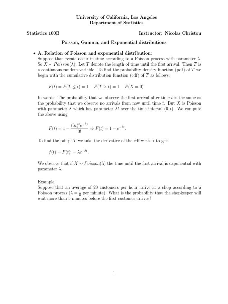 Gamma Function | Poisson Distribution | Probability Distribution