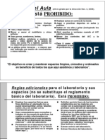 Reglas Aula y Laboratorio, Proyecto - Julio 2013