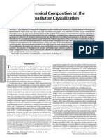 Chemical Composition on CB Crystallization