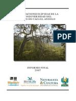 Biodiversidad CCA Reporte2007