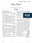 US Congressional Record Daily Digest 21 June 2006