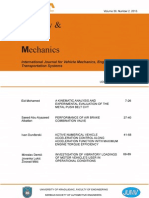 Mobility and Vehicle Mechanics, Volume 39 Number 2, 2013