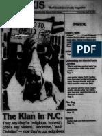 The Klan in N.C.