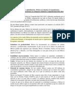 Competitividad y globalización MÉXICO resumen