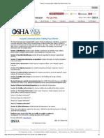 Hazard Communication Safety Data Sheet Quick Card