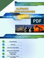 Presentación ALFRANI CONSTRUCCIONES para Schlumberger