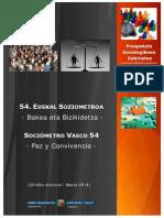 Sociometro Vasco - Paz y Convivencia 2014
