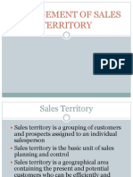 Sales Territory and Sales Quota