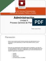 Unidad II - 2.1 Proceso General de Planeacion