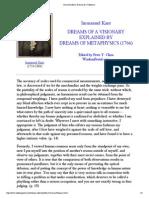 Kant Dreams of a Visionary
